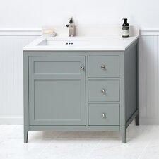 """Briella 36"""" Bathroom Vanity Cabinet Base in Ocean Gray"""