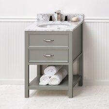 """Newcastle 24"""" Bathroom Vanity Cabinet Base in Ocean Gray"""