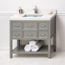 """Newcastle 36"""" Bathroom Vanity Cabinet Base in Ocean Gray"""