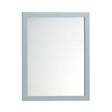 Contemporary Solid Wood Framed Bathroom Mirror in Ocean Gray