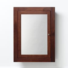 "Neo-Classic 24"" x 32"" Solid Wood Framed Medicine Cabinet in American Walnut"