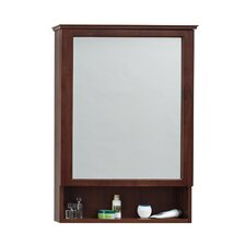"""24"""" x 34"""" Surface Mount Solid Wood Framed Medicine Cabinet in American Walnut"""