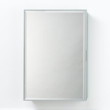 "23"" x 33"" Solid Wood Framed Medicine Cabinet in Ocean Gray"