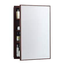 "32.5"" H x 22.5"" W Solid Wood Framed Medicine Cabinet in American Walnut"
