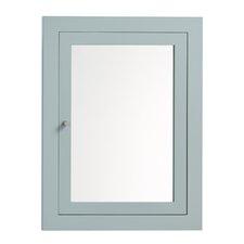 "24"" x 32"" Solid Wood Framed Medicine Cabinet in Ocean Gray"