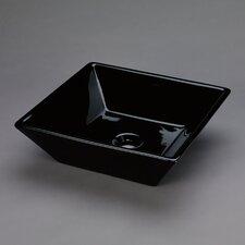 Square Ceramic Vessel Bathroom Sink in Black