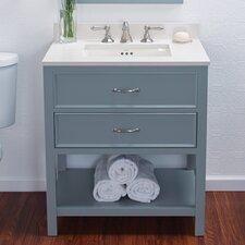 """Newcastle 30"""" Bathroom Vanity Cabinet Base in Ocean Gray"""