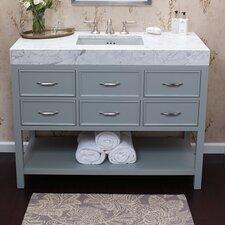 """Newcastle 48"""" Bathroom Vanity Cabinet Base in Ocean Gray"""
