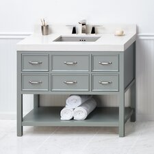 "Newcastle 42"" Bathroom Vanity Cabinet Base in Ocean Gray"