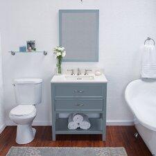 "Newcastle 30"" Single Bathroom Vanity Set with Mirror"
