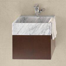 "Rebecca 18"" Wall Mount Bathroom Vanity Base Cabinet in Dark Cherry"