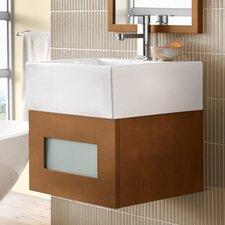 "Rebecca 18"" Wall Mount Bathroom Vanity Base Cabinet in Cinnamon"