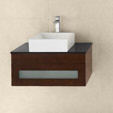 "Rebecca 31"" Wall Mount Bathroom Vanity Base Cabinet in Dark Cherry"