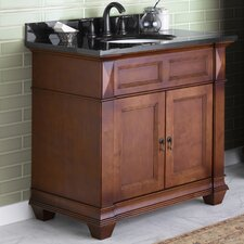 "Torino 36"" Bathroom Vanity Cabinet Base in Colonial Cherry"
