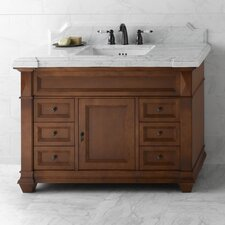 "Torino 48"" Bathroom Vanity Cabinet Base in Colonial Cherry"