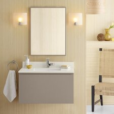 "Ariella 31"" Single Wall Mount Bathroom Vanity Set with Mirror"