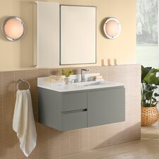 "Vanessa 36"" Single Wall Mount Bathroom Vanity Set"