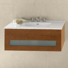 "Rebecca 36"" Single Wall Mount Bathroom Vanity Set"