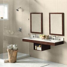 "Adina 61"" Double Wall Mount Bathroom Vanity Set with Mirror"