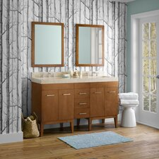 "Venus 58"" Double Bathroom Vanity Set with Mirror"