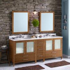 "Juno 72"" Double Bathroom Vanity Set with Mirror"