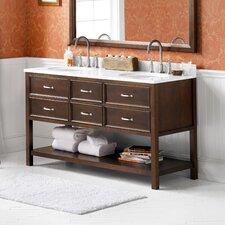"Newcastle 60"" Double Bathroom Vanity Set with Mirror"