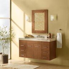 "Bella 35"" Single Wall Mount Bathroom Vanity Set with Mirror"
