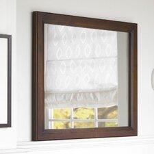 """Transitional 30"""" x 35"""" Solid Wood Framed Bathroom Mirror in Café Walnut"""