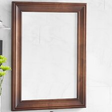 """Traditional 24"""" x 32"""" Solid Wood Framed Bathroom Mirror in Colonial Cherry"""