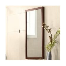 Contemporary Solid Wood Framed Bathroom Mirror in Dark Cherry