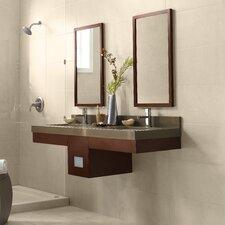 """Adina 58"""" Double Wall Mount Bathroom Vanity Set with Mirror"""