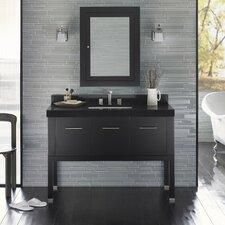 """Calabria 48"""" Single Bathroom Vanity Set with Mirror"""