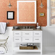 "Newcastle 42"" Single Bathroom Vanity Set with Mirror"