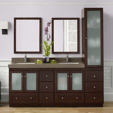 "Shaker 75"" Double Bathroom Vanity Set"