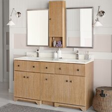 "Amberlyn 60"" Double Bathroom Vanity Set with Mirror"