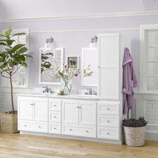 "Shaker 90"" Double Bathroom Vanity Set with Mirror"