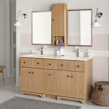 "Amberlyn 60"" Double Bathroom Vanity Set"
