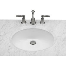 Oval Ceramic Undermount Bathroom Sink in White