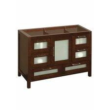 "Athena 48"" Bathroom Vanity Base Cabinet in Dark Cherry"