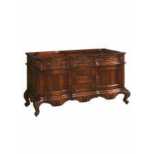 "Bordeaux 60"" Bathroom Vanity Cabinet Base in Colonial Cherry"