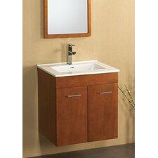 "Bella 23"" Wall Mount Bathroom Vanity Base Cabinet in White"