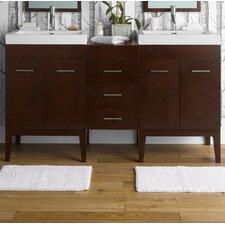 """Venus 23"""" Bathroom Vanity Base Cabinet in Dark Cherry"""