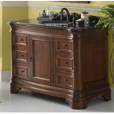 """Le Manns 48"""" Bathroom Vanity Cabinet Base in Colonial Cherry"""