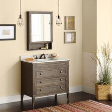 "Laurel 30"" Bathroom Vanity Cabinet Base in Vintage Café"