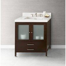 "Juno 30"" Bathroom Vanity Cabinet Base in Dark Cherry"