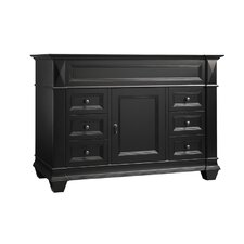 "Torino 48"" Bathroom Vanity Cabinet Base in Antique Black"