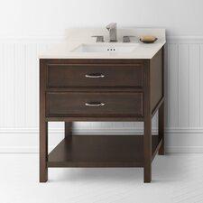"Newcastle 30"" Bathroom Vanity Cabinet Base in Café Walnut"