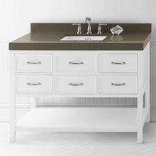 "Newcastle 48"" Bathroom Vanity Cabinet Base in White"
