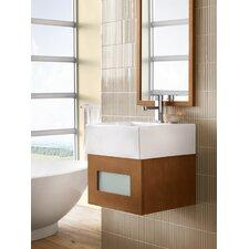 "Rebecca 18"" Single Wall Mount Bathroom Vanity Set with Mirror"