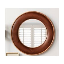 """Traditional 33"""" x 33"""" Solid Wood Framed Bathroom Mirror in Colonial Cherry"""